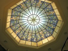 Boise Idaho LDS Temple Stained Glass Skylight by Tom Holdman